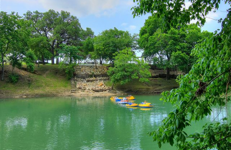 Tubing at New Braunfels Escapes.