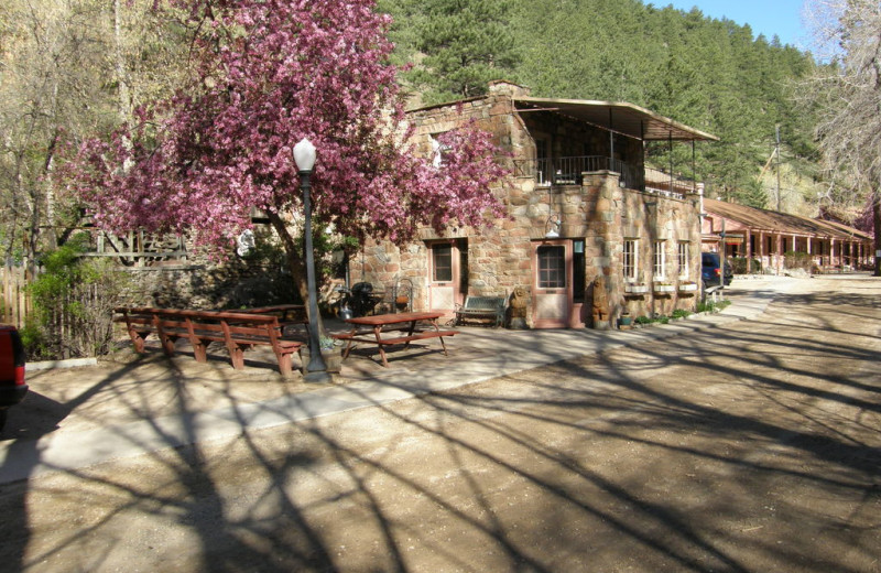 Exterior view of Boulder Mountain Lodge.