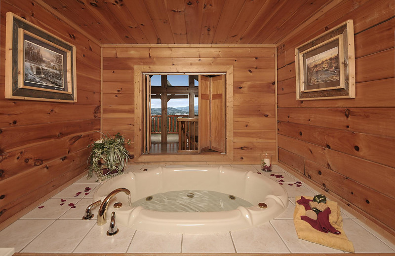 Cabin Hot Tub At Outrageous Cabins LLC.