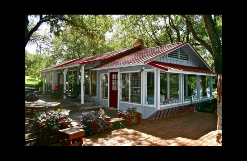 Cabin exterior at Cool Water Cabin Rental - Lake LBJ.