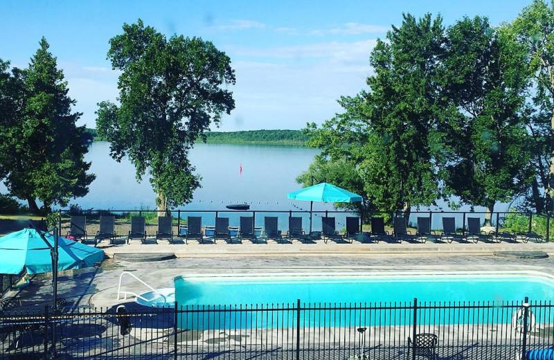 Pool at Great Blue Resorts.