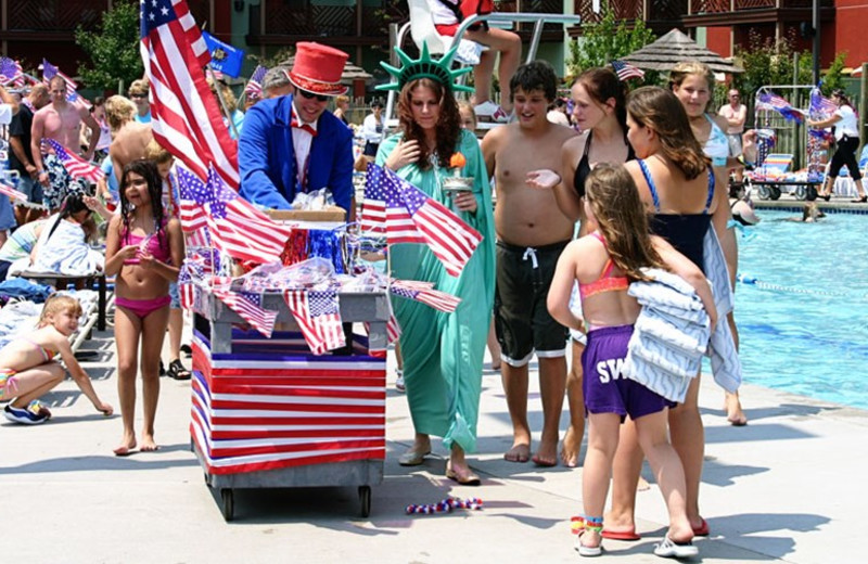 Fourth of July celebration at Kalahari Waterpark Resort Convention Center.