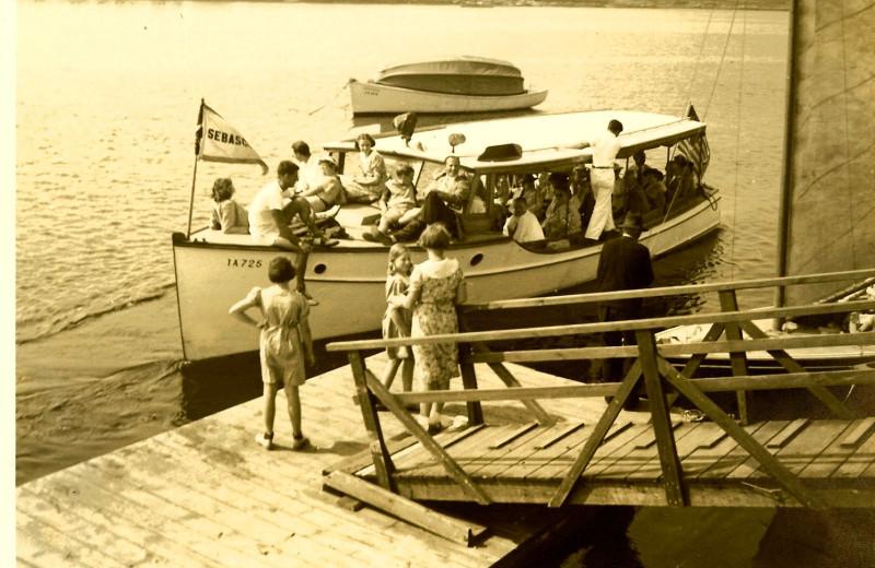 Historical photo of Sebasco Harbor Resort.