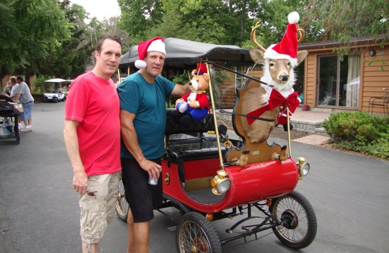 Christmas in July at Island Club Rentals.