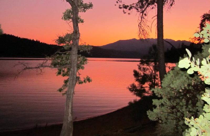 Sunset at Trinity Lake.