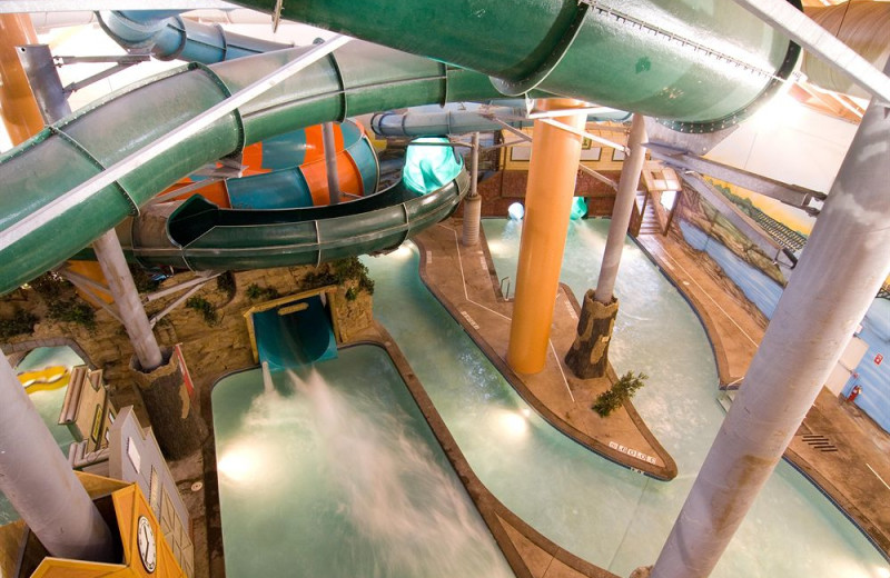 Water park at Wild Woods Indoor Water Park Holiday Inn.