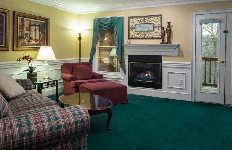 Guest room at Forrest Hills Resort.