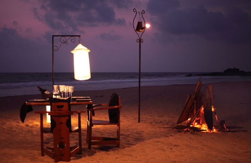 Beach dining at Heritance Ahungalla.