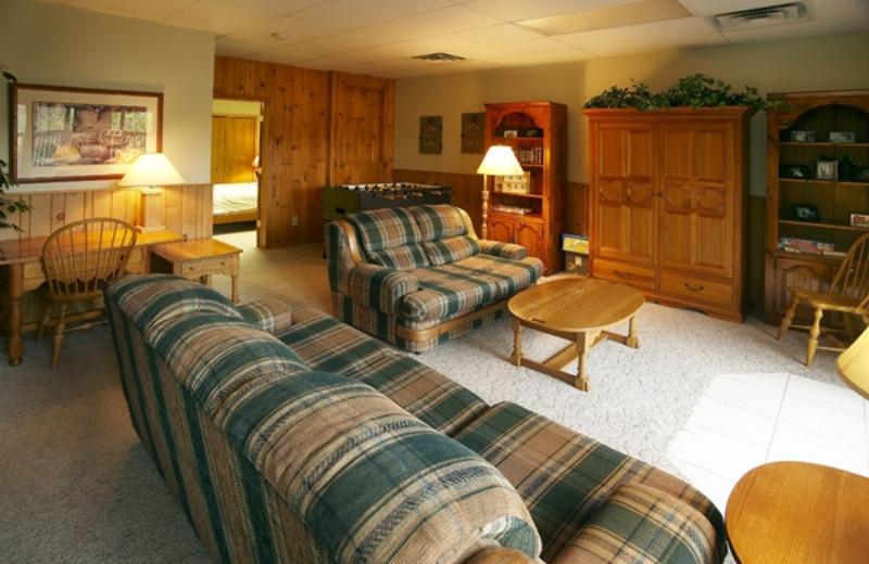 Villa living room at Giants Ridge Golf and Ski Resort.