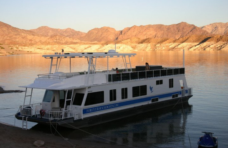 Houseboat exterior at Callville Bay.