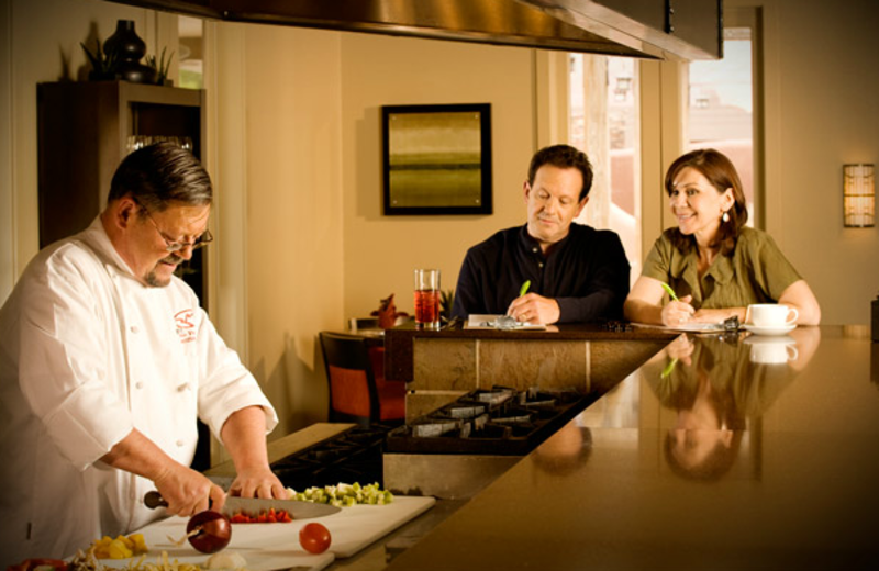 Chef preparing meal at Red Mountain Resort & Spa.