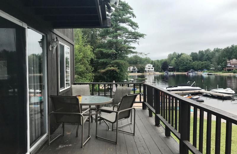 Rental balcony view at At The Lake Vacation Rentals.