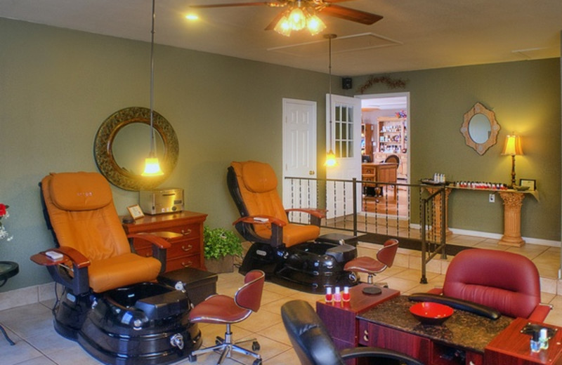Manicure and Pedicure chairs at Inn on Barons Creek.