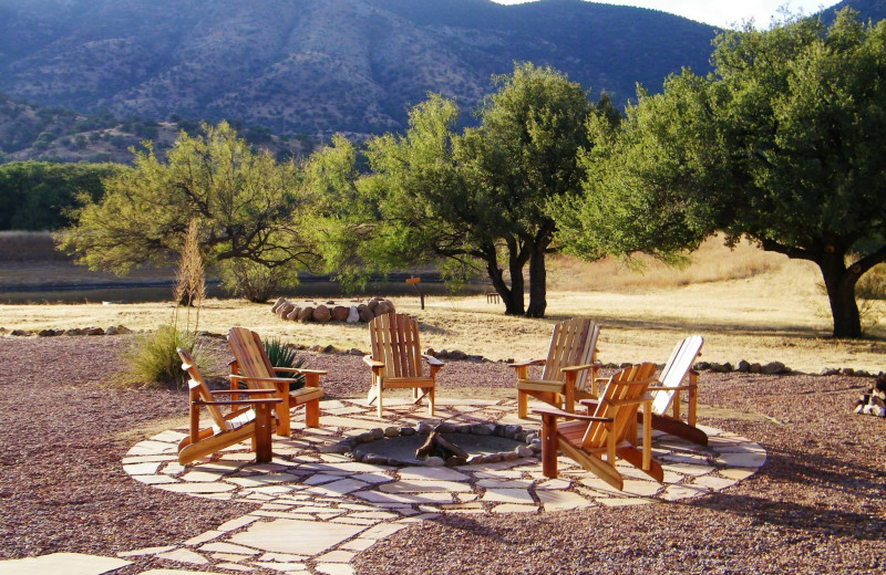 Patio at Sunglow Guest Ranch.