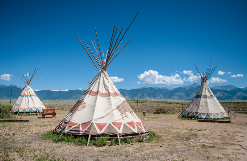 Teepees at Joyful Journey Hot Springs Spa.