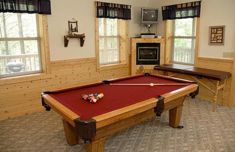 Vacation Rental Game Room at Volunteer Cabin Rentals