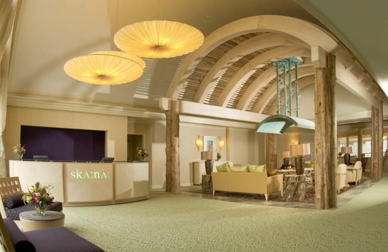 Spa lobby at Turning Stone Resort Casino.