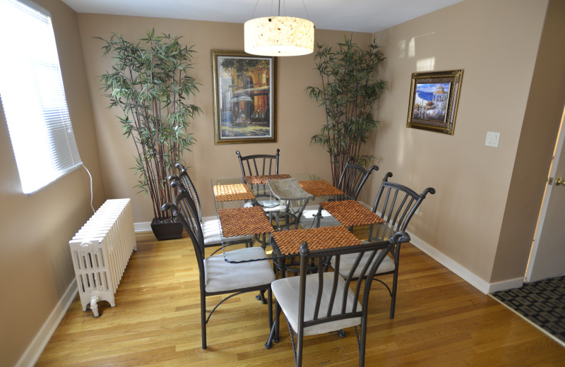 Dining room - massive 5 room Two Bedroom apartment suite at Friendship Suites.