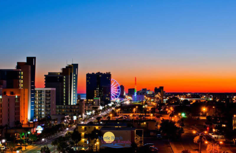 Downtown Myrtle Beach near Myrtle Beach Vacation Rentals.