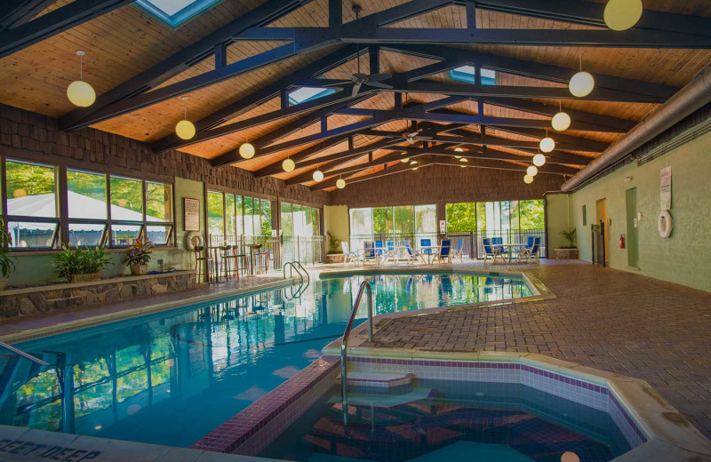 Indoor pool at Dunham's Bay Resort.
