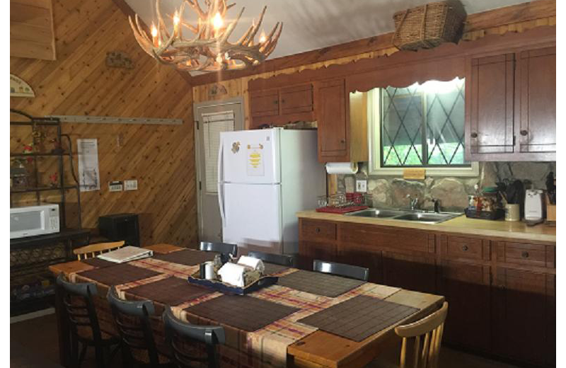 Cabin kitchen at Cabins-4-Rent.