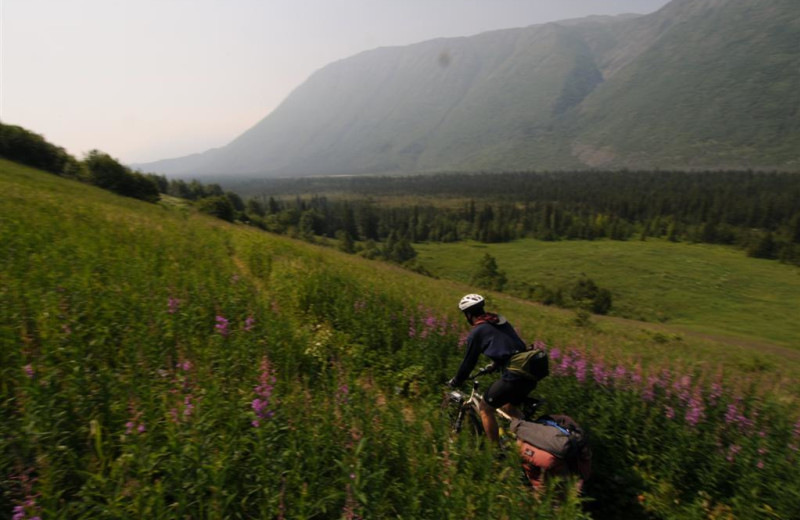 Biking at Great Alaska Adventure Lodge.