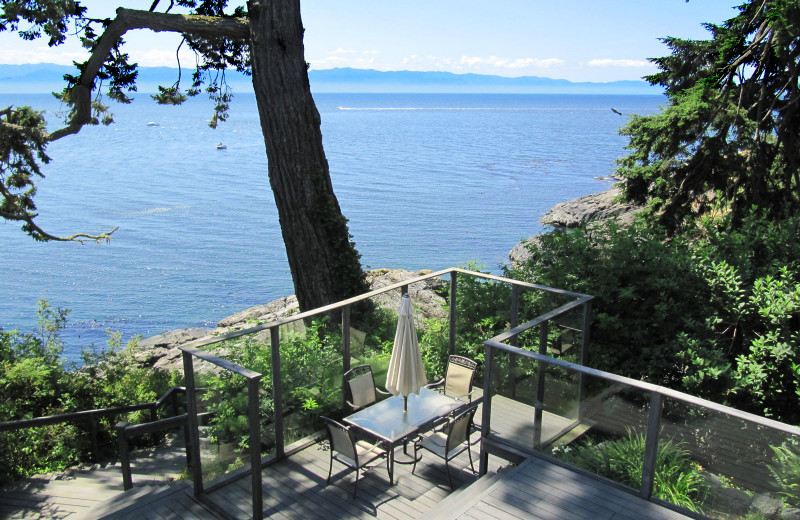Rental deck at Island Vacation Homes.