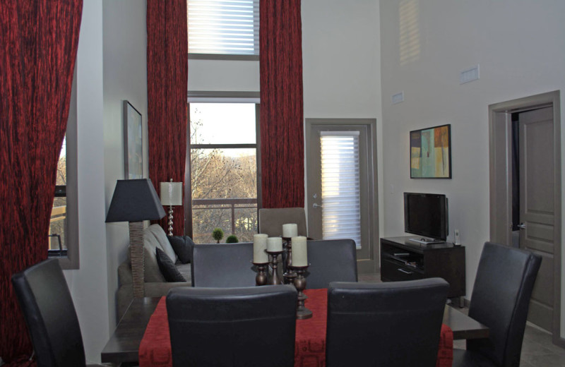 Rental living room at realTopia Vacation Rentals.