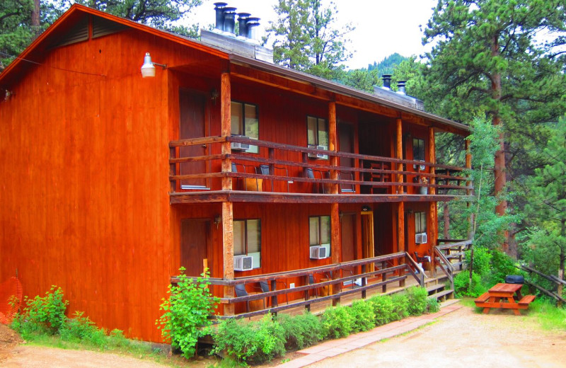 Lodge exterior at Amberwood.