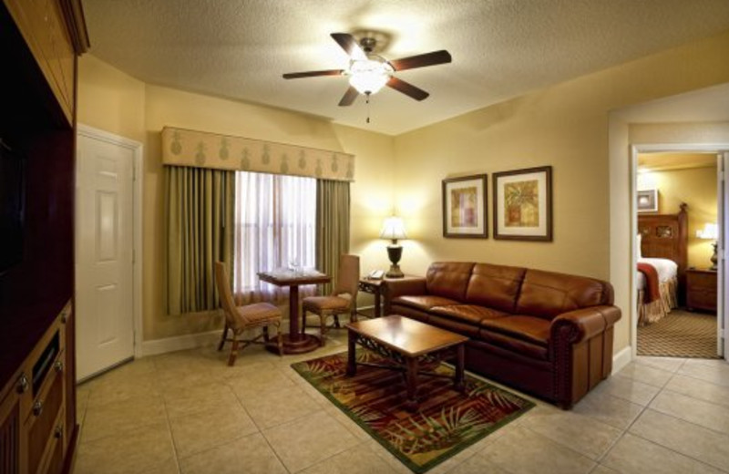 Guest living room at Westgate Town Center.