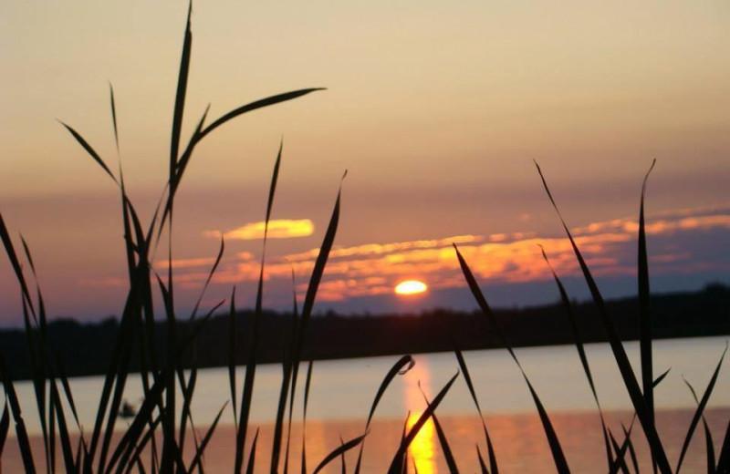 Sunset at Sandy Point Lodge.