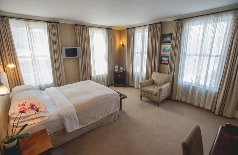Guest room at Hotel Fauchere.
