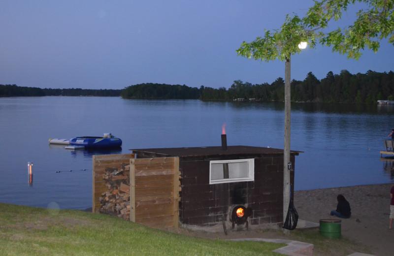Bonfire at Bay View Lodge.
