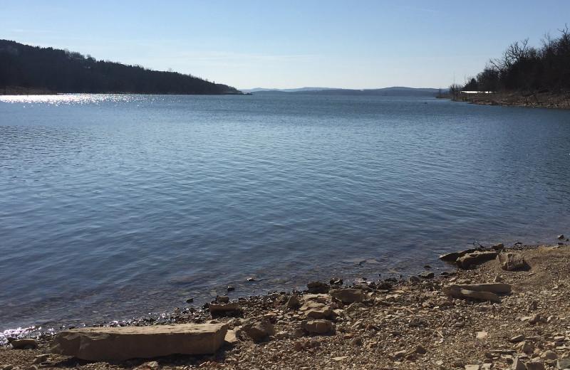Lake view at Antlers Resort.