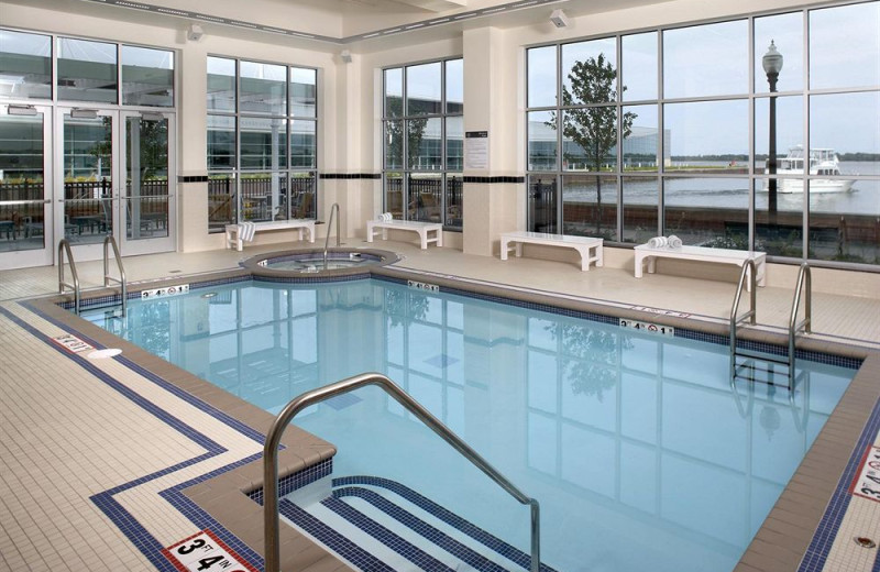 Indoor pool at Sheraton Erie Bayfront Hotel.