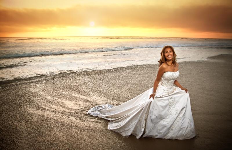 Beach wedding at Pajaro Dunes Resort.