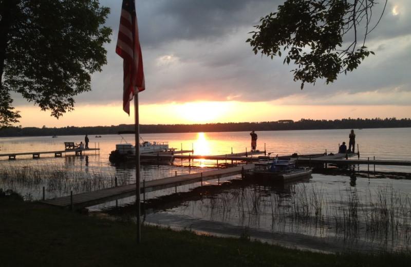 Lake view at Sandy Pines Resort.