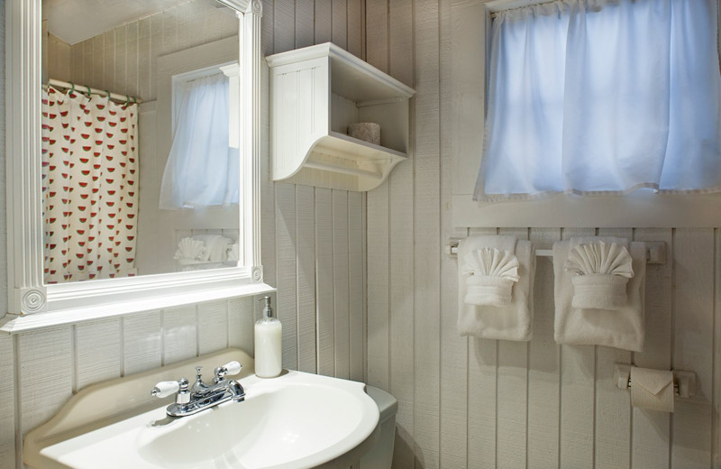 Guest bathroom at Key West Bed & Breakfast.