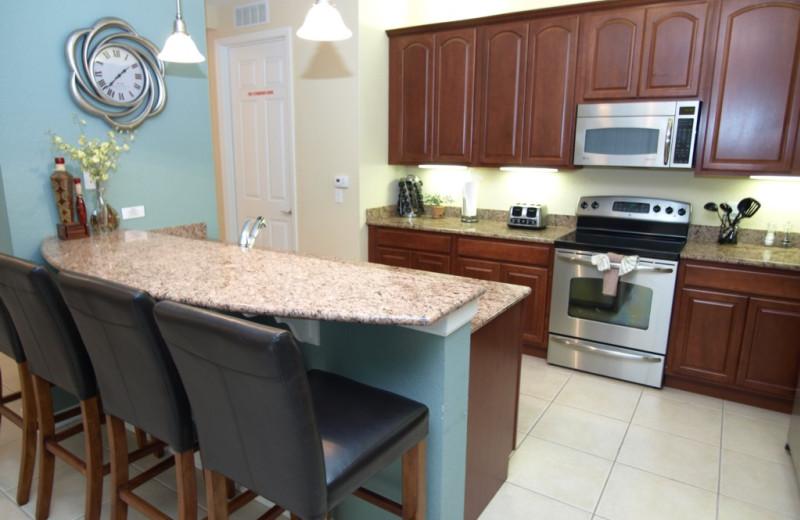 Vacation rental kitchen at Casiola Vacation Homes.