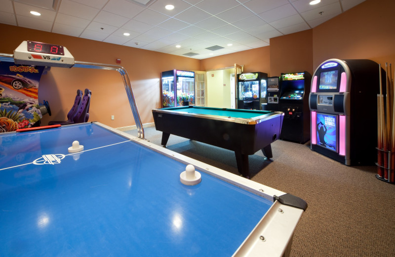 Game room at Holiday Inn Club Vacations Smoky Mountain Resort.