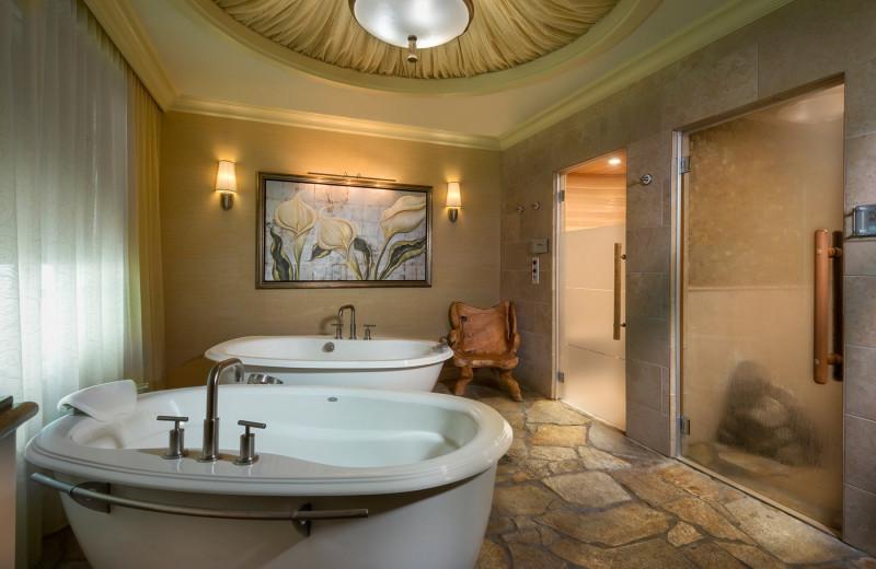 Spa hot tubs at Turning Stone Resort Casino.
