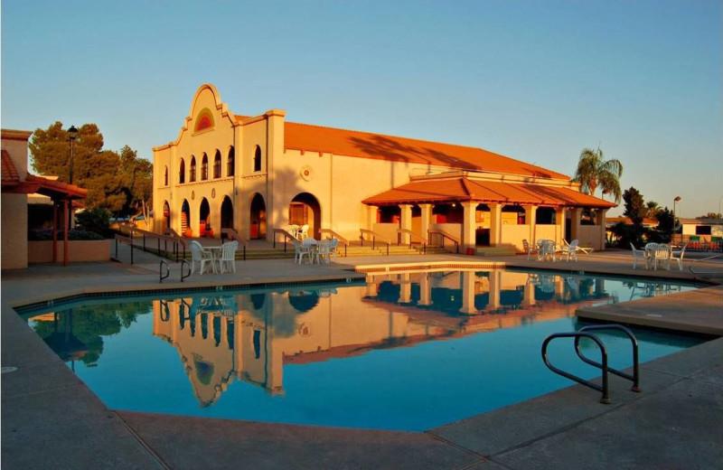 Resort pool at Roberts Resorts.