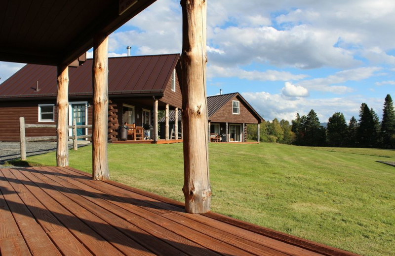 Deck at Unity College Sky Lodge.