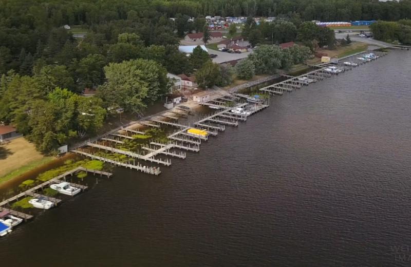 Aerial view of Adrian's Resort.