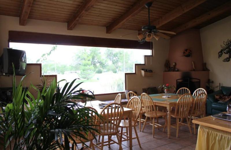 Dining room at Inn at Paradise.