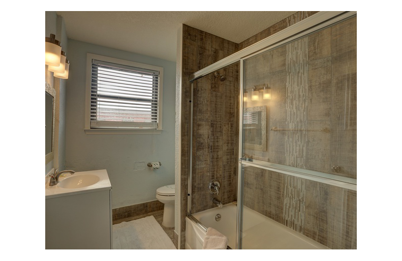 Guest bathroom at Gulf Winds Resort Condominiums.