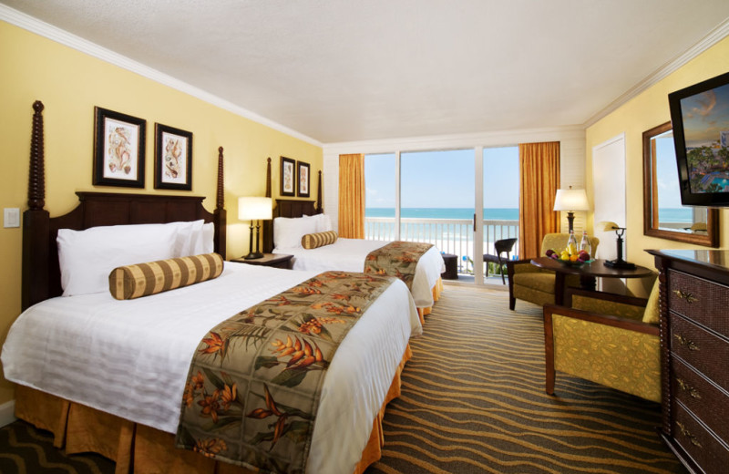 Guest room at TradeWinds Island Grand.