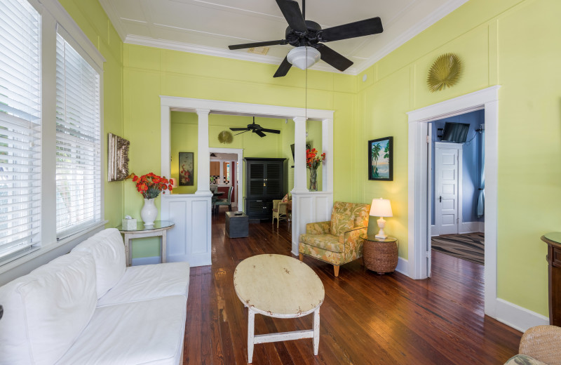 Rental living room at Key West Vacation Rentals.
