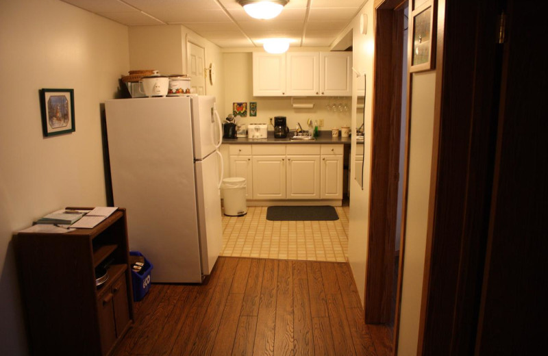 Kitchen at Bear Cub Lodging.