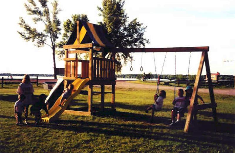 Children's playground at Battle View Resort.